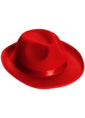 Красная гангстерская шляпа