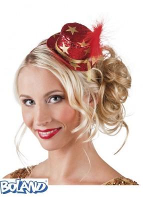 Красная мини-шляпа