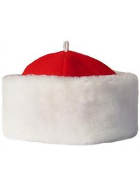 Красная шапка Деда Мороза с мехом