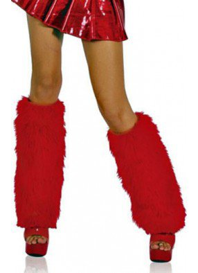 Красные длинные накладки на сапоги