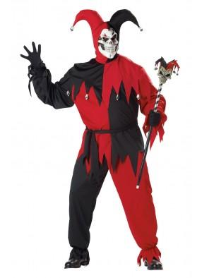 Красно-черный костюм дьявольского шута