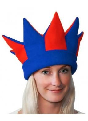 Красно-синяя шапка петрушки и скомороха