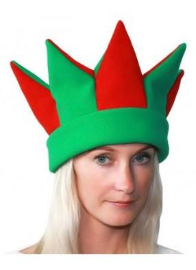 Красно-зеленая шапка петрушки и скомороха