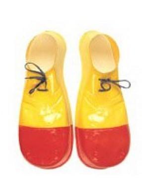 Красно-желтые клоунские бахилы взрослые