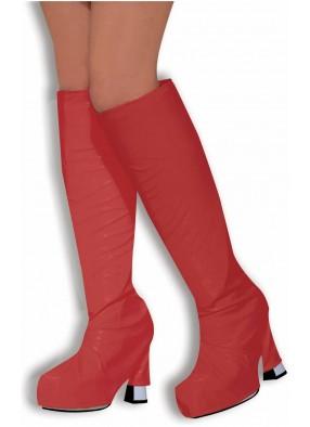 Красные накладки на женские сапоги