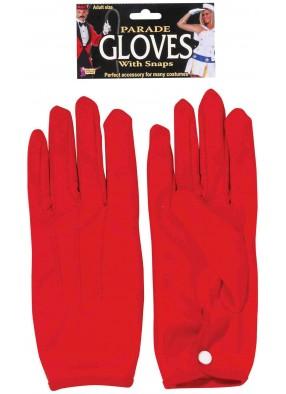 Красные перчатки с кнопочкой