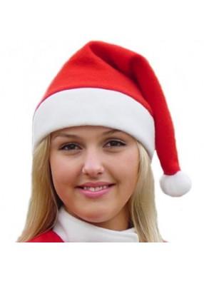 Красный флисовый колпак Деда Мороза