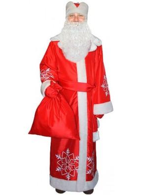 Красный костюм Деда Мороза из тафты