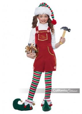 Красный костюм эльфа для девочки