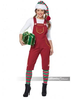 Красный костюм эльфа для девушки