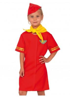 Красный кстюм стюардессы