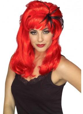 Красный парик Паучиха взрослый