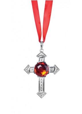 Крест Дракулы с красным рубином