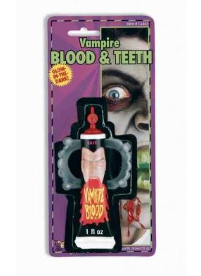 Кровь и клыки набор для грима