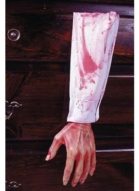 Кровавая рука в белом рукаве фото