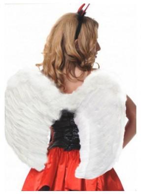 Крылья перьевые белые 80 х 60 см