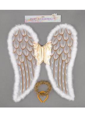 Крылья ангела большие с нимбом