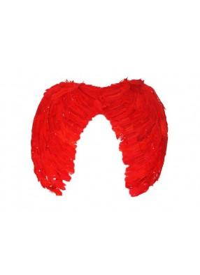 Крылья Ангела перьевые 60 см красные
