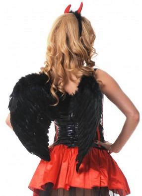 Крылья ангела перьевые черные 60 см