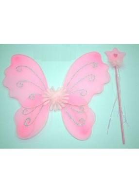 Крылья бабочки розовые