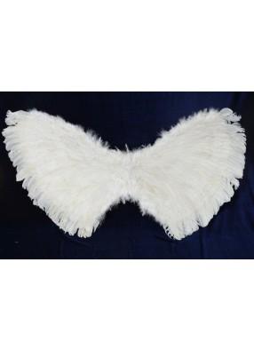 Крылья перьевые белые 110х60