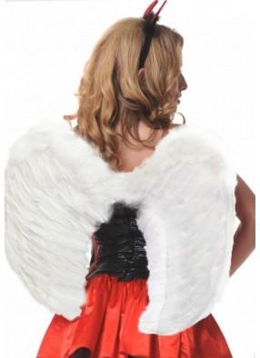 Крылья перьевые белые 60 см