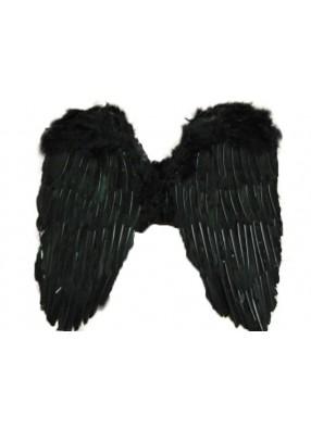 Крылья перьевые черные 50х50