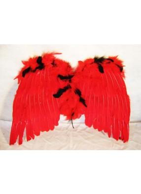 Крылья перьевые красно-черные