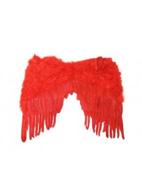 Крылья перьевые красные 60х50