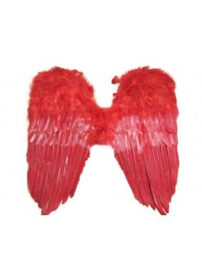 Крылья перьевые красные широкие 50х50