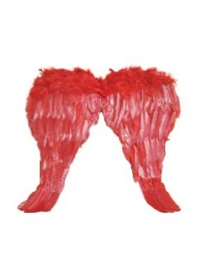 Крылья перьевые красные узкие 50х50