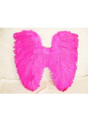 Крылья перьевые малиновые