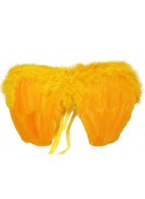 Крылья перьевые малые оранжевые