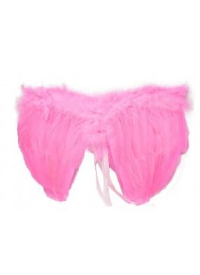 Крылья перьевые малые розовые