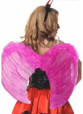 Крылья розовые 60 см