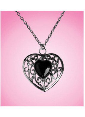 Кулон с черным сердцем
