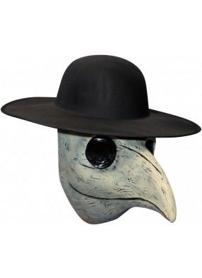 Латексная маска белого  Чумного доктора