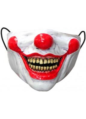 Латексная полумаска Улыбка клоуна
