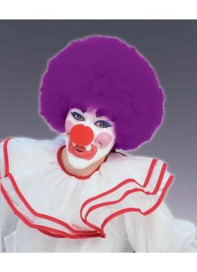Лиловый парик клоуна