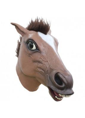 Лошадь коричневая взъерошенная 1 фото