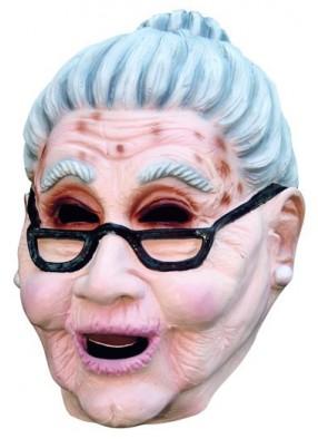Маска Бабушка в очках из латекса