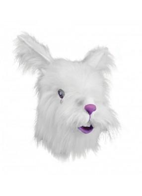 Маска Кролик с белым пухом 1 фото