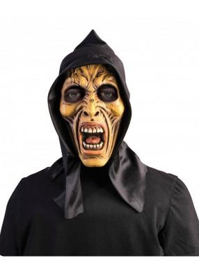 Маска зубастый Зомби с капюшоном
