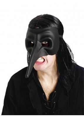 Матовая черная маска ворона