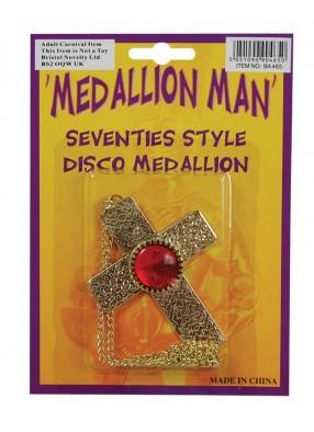 Медальон мужской крест