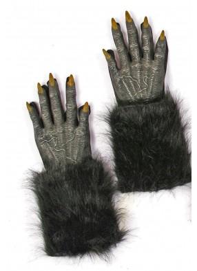 Меховые чёрные перчатки оборотня