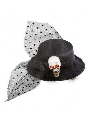 Мини шляпка Череп 1 фото