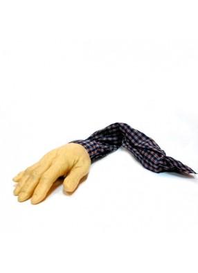Муляж руки в клетчатом рукаве