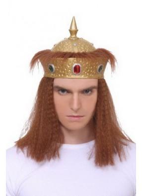 Мужская корона с волосами