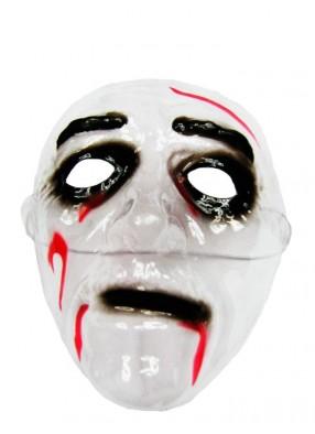 Мужская маска прозрачная с кровью